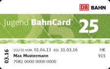 Jugend BahnCard 25: wer kennt sie noch nicht?